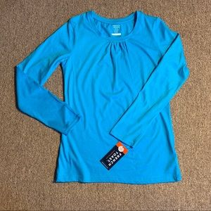French Toast Girls Blouse Long Sleeve Blue S 14/16
